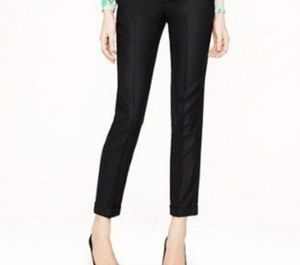 J. Crew city fit black wool crop pants. Size 12